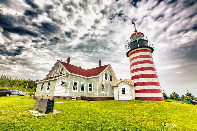 West Quoddy Head Light - Lubec, Maine - Established 1808