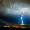 *Contact*<br /> <br /> A lightning bolt touches down on the South West side of the Prison at Point of the Mountain in Utah.<br /> <br /> © 2010 Jeff McGrath