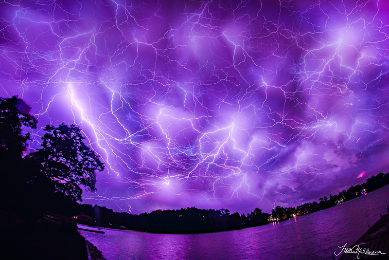 Lightning Over Lake Louise