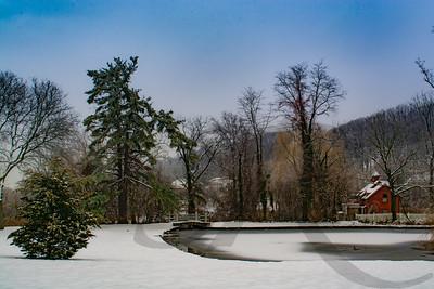 Roslyn Park in Snow