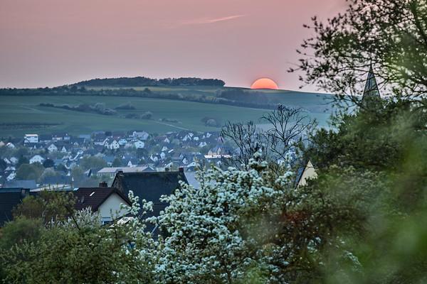 Sonnenuntergang über Polch
