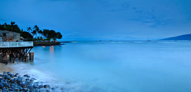 Lahina Beach Evening (panoramic)