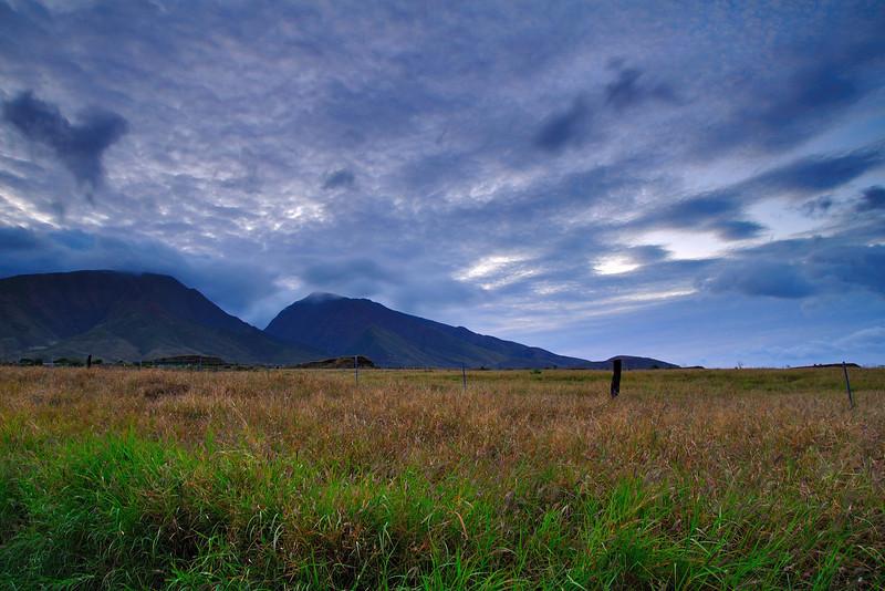 Maui sunrise over mountains