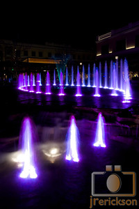 Village Fountains Purple 35