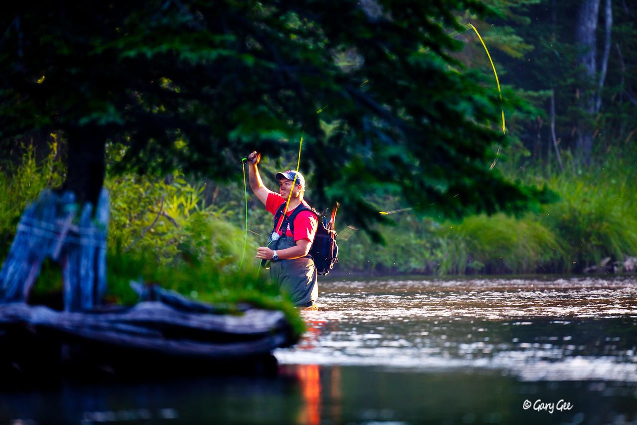 Color enhanced photo Fisherman