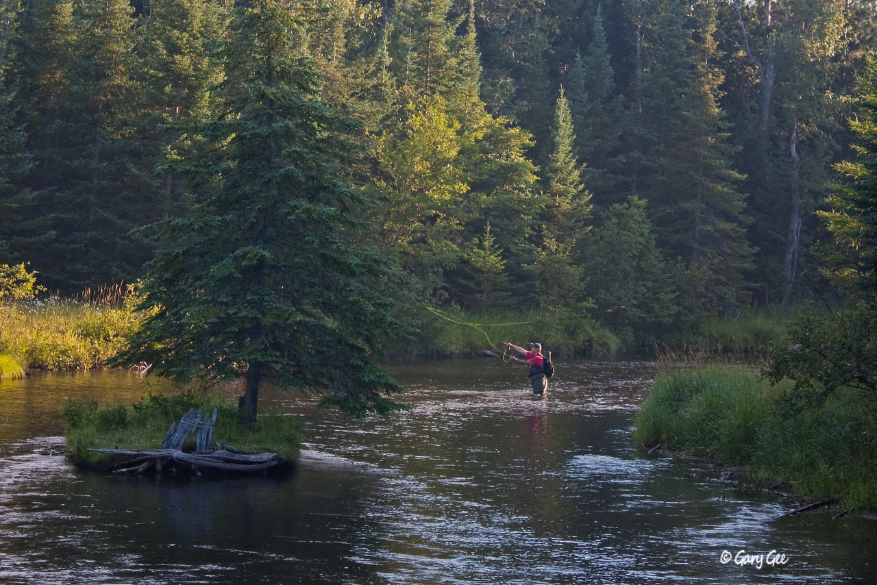 Fisherman on the North Branch of the AuSable River