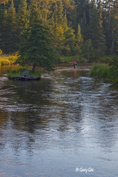 Fisherman on the North Branch of the AuSable River near the Kellogg Bridge