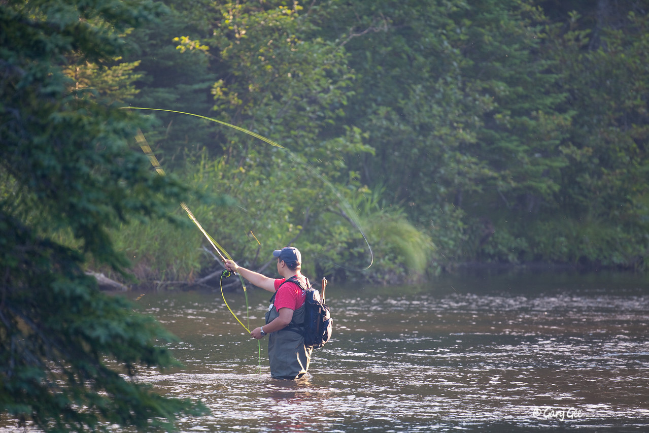 "Casting to that ""Honey Hole"" on the North Branch"