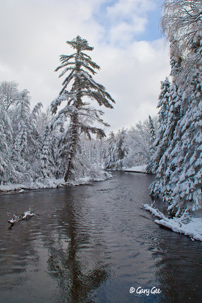 Au Sable River Wakeley Bridge Winter