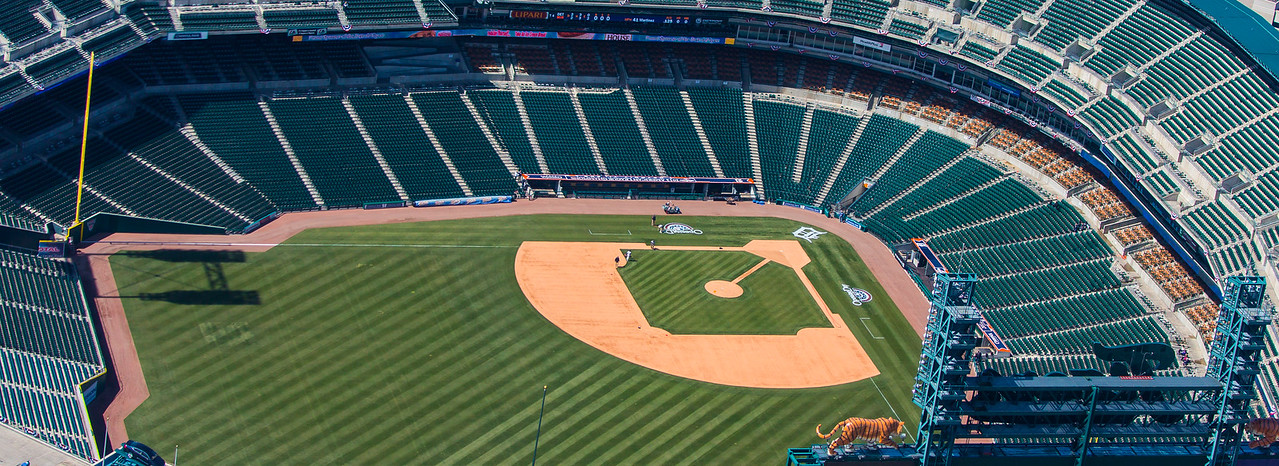 Comerica Park Detroit, Mi - preparation for opening day 2013!