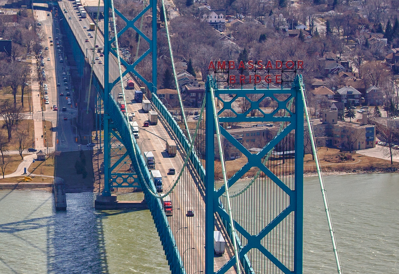 Ambassador Bridge - Detroit to Windsor Canada
