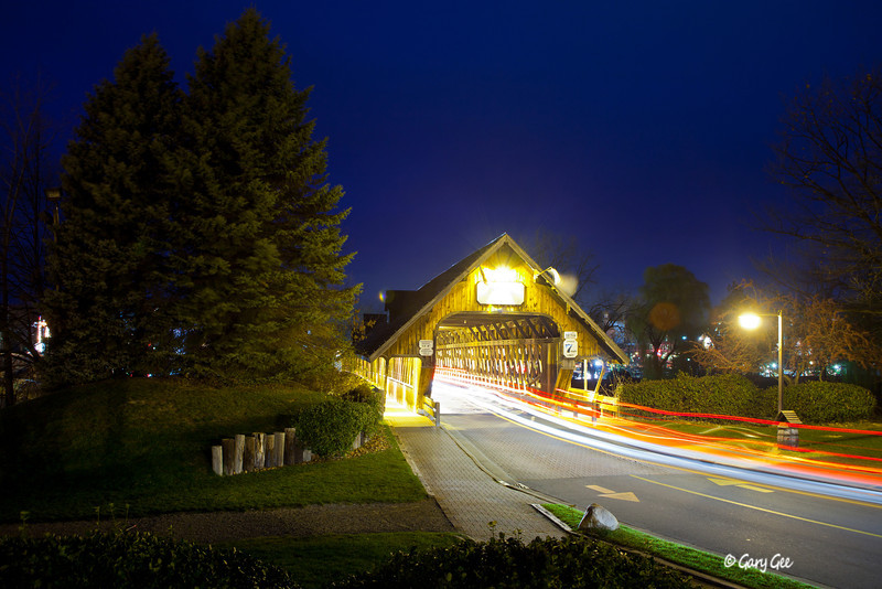 "Zehnder's Holz Brucke (German for ""Wooden Bridge"") Frankenmuth, Michigan"
