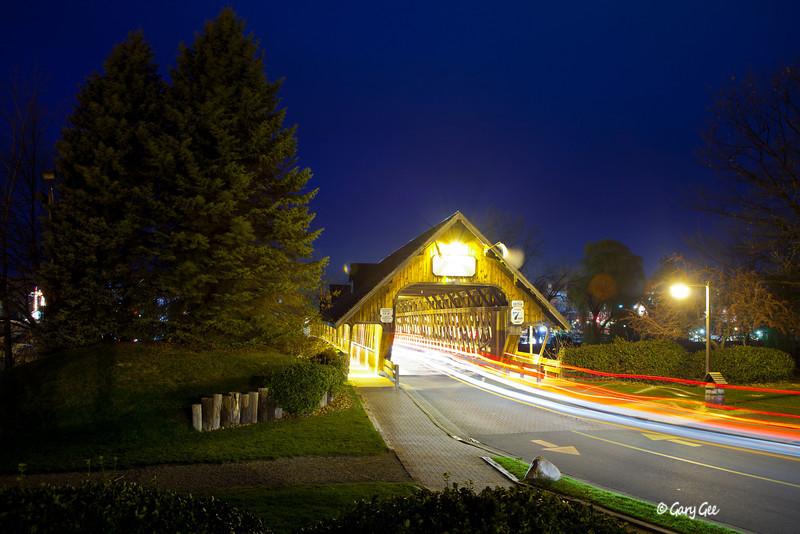 "Zehnder's Holz Brucke (German for ""Wooden Bridge"") Frankenmuth, Michigan"