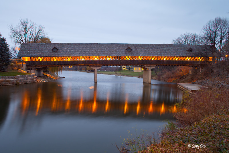 Zehnder's Holz Brucke (German for Wooden Bridge) Frankenmuth, Michigan