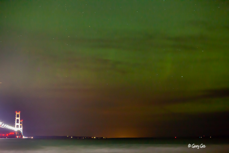 Mackinac Bridge Northern Lights Aurora