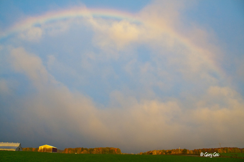 Rainbow over a farm in Northern Michigan