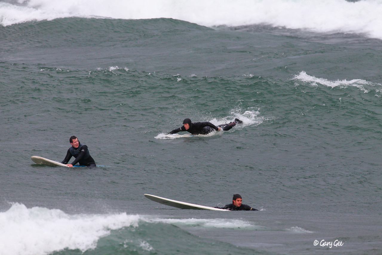 Lake Superior Surfing in Marquette...these guys live for these kinds of days!