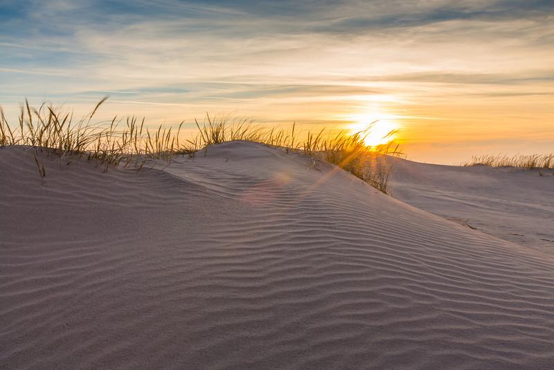 Sleeping Bear Dunes cloudy sunset