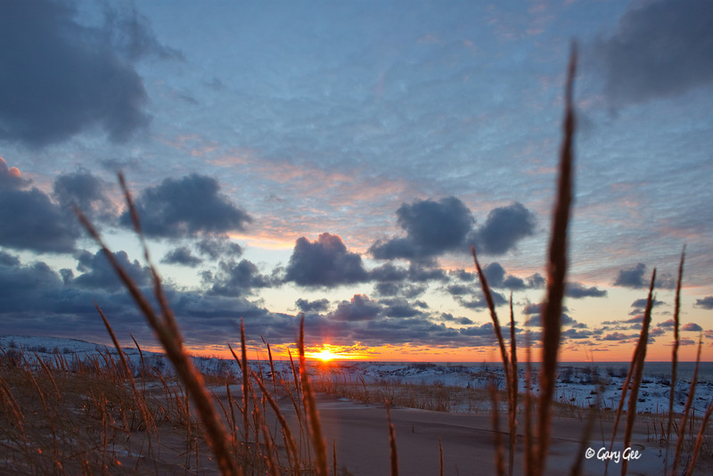 Sleeping Bear Dunes Sunset in January
