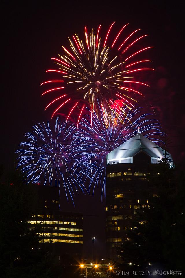 Fireworks at Normandale Lake Park, Bloomington, MN
