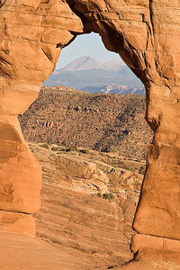 Looking thru Delicate Arch - Arches National Park