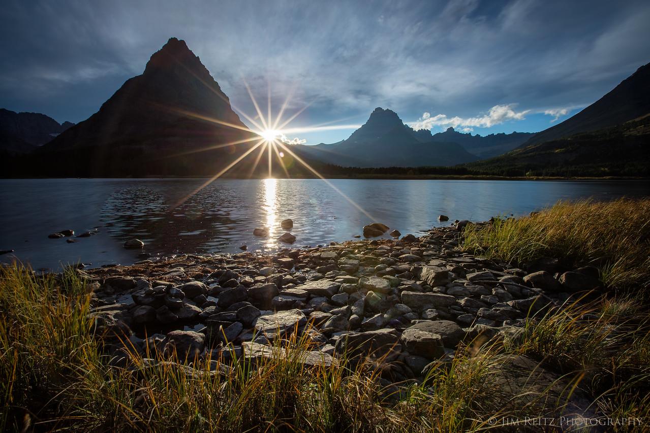 Sunset - Swiftcurrent Lake, Glacier National Park