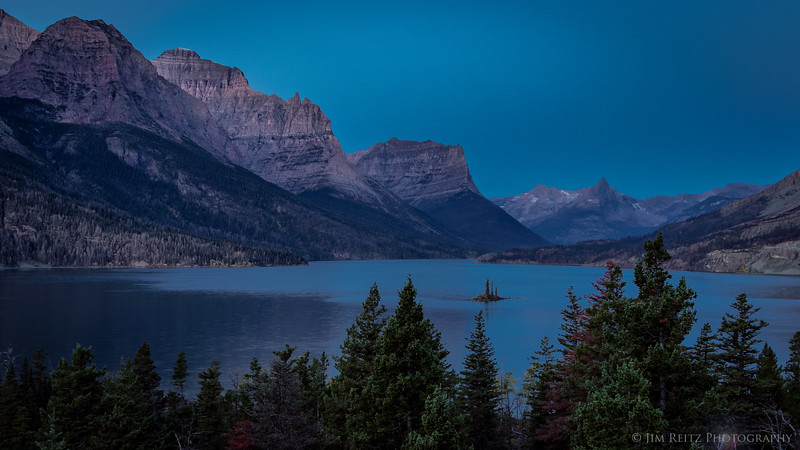 Pre-dawn twilight - St. Mary Lake, Glacier National Park