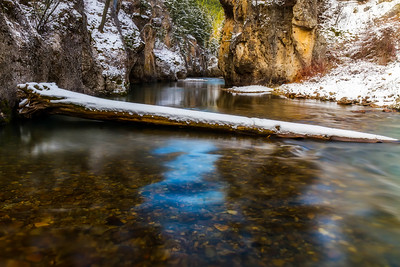 Sluice Boxes State Park Dressed In Its Winter Best