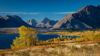 Autumn color, St. Mary Lake - Glacier National Park