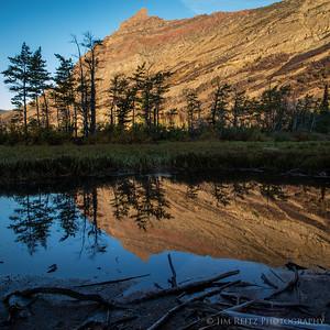 Sunrise reflections, Glacier National Park