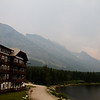 Many Glacier Hotel on the East Side of GNP on shore of Swiftcurrent Lake