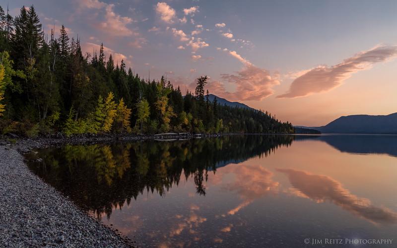 Sunset on Lake McDonald, Glacier National Park