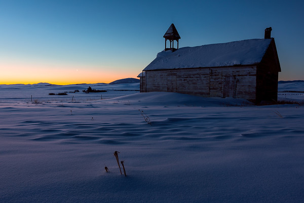 Frigid Stockett Montana Sunrise