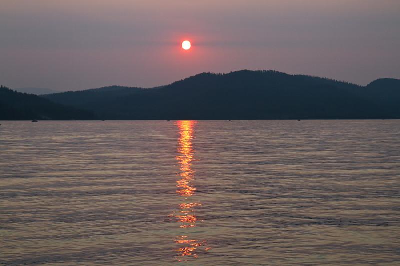 Sunset views on Whitefish Lake
