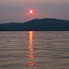 Sunset views on Whitefish Lake