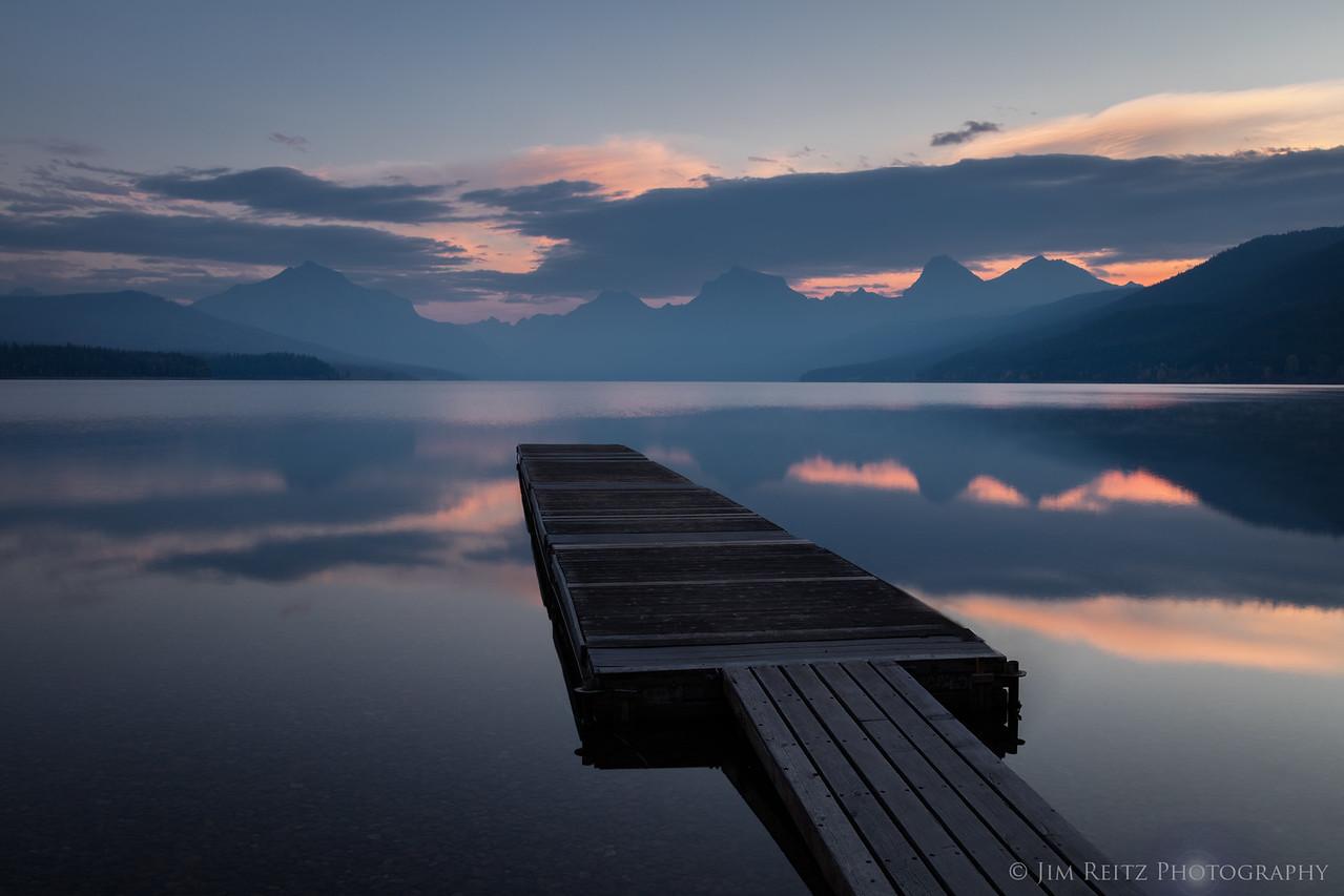 Sunrise on Lake McDonald - Apgar Village, Glacier National Park