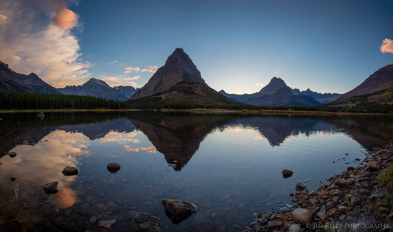 Sunset - Swiftcurrent Lake, Glacier National Park