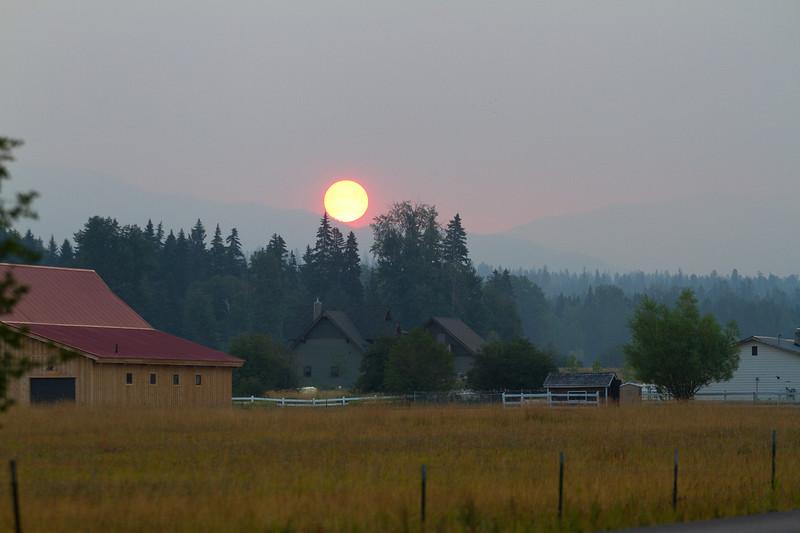 Sunrise on the outskirts of Whitefish