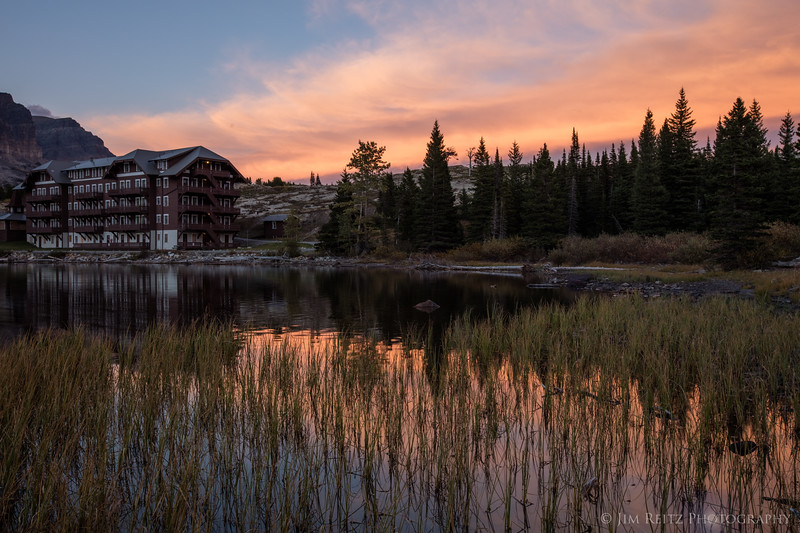 Sunset - Many Glacier Lodge, Glacier National Park