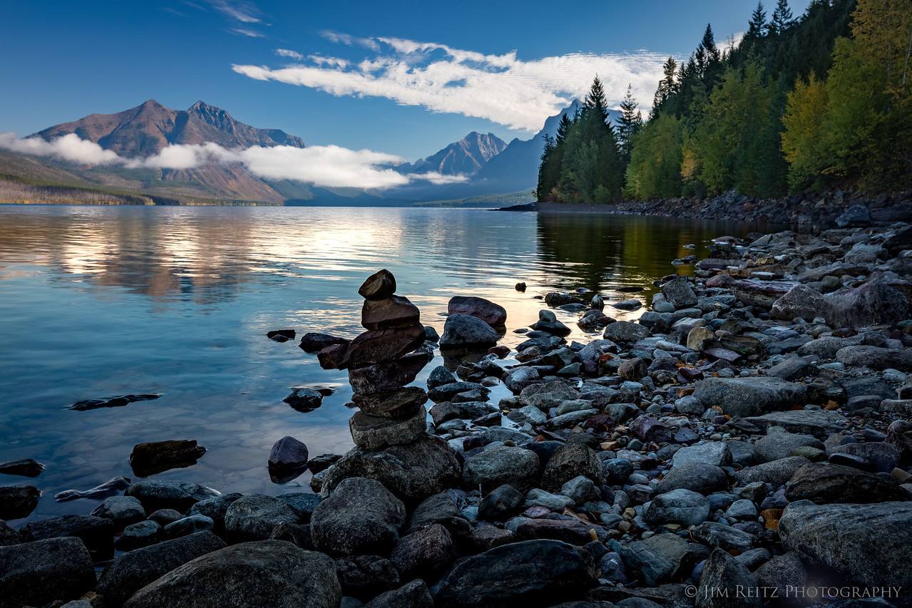 Early morning along Lake McDonald, Glacier National Park