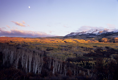 Moon over Kebler Pass