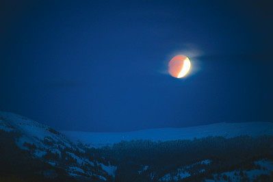 Lunar Eclipse over Double Top Moutnain