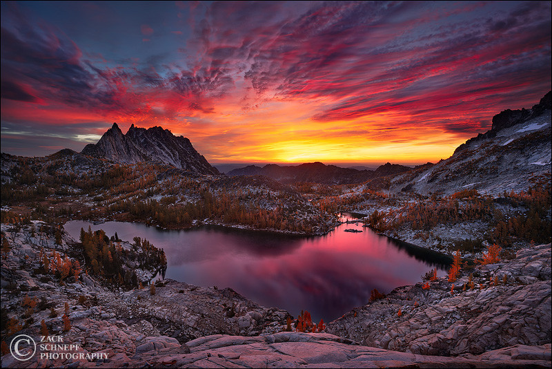 "<font color=""#FFFFFF"" size=""4"" face=""Verdana, Arial, Helvetica, sans-serif"">Enchanted Skyfire</font><br> Enchantment Lakes, Washington"