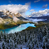 Fresh Snow Over Peyto Lake