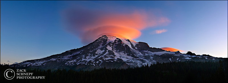 "<font color=""#FFFFFF"" size=""4"" face=""Verdana, Arial, Helvetica, sans-serif"">Lenticular Sunrise</font><br> Mt Rainier, Washington"