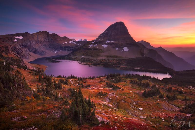 Autumn Glacier Sunset Glacier NP, Montana