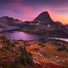 """<font color=""""#FFFFFF"""" size=""""4"""" face=""""Verdana, Arial, Helvetica, sans-serif"""">Autumn Glacier Sunset</font><br> Glacier NP, Montana"""