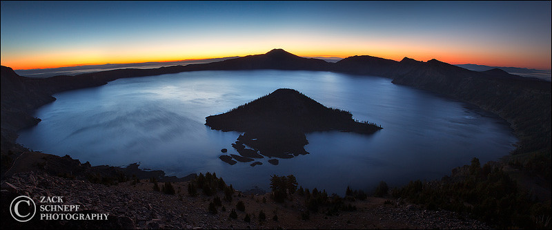 "<font color=""#FFFFFF"" size=""4"" face=""Verdana, Arial, Helvetica, sans-serif"">Crater Lake Sunrise Pano</font><br> Crater Lake, Oregon"