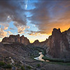 Smith Rock Sunset Storm