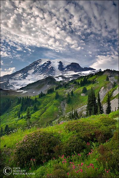 """<font color=""""#FFFFFF"""" size=""""4"""" face=""""Verdana, Arial, Helvetica, sans-serif"""">Rainier Layers</font><br> Mt Rainier, Washington"""
